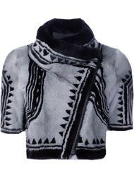укороченная байкерская куртка 'Geo'  Yigal Azrouel