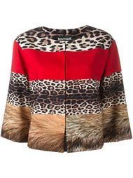 укороченная куртка с пятнистым принтом Boutique Moschino