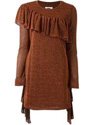 платье с рюшами Mm6 Maison Margiela