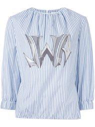 полосатая рубашка с принтом-логотипом J.W.Anderson