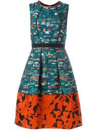 платье-шифт с контрастным подолом Oscar de la Renta