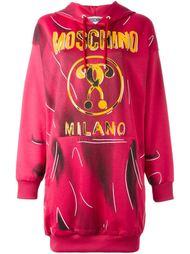 платье-толстовка с логотипом  Moschino