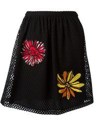 сетчатая юбка с цветочной вышивкой Boutique Moschino