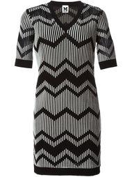 платье зигзагообразной вязки   M Missoni