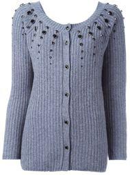 вязаный декорированный свитер  Twin-Set