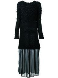 фактурное платье  Twin-Set