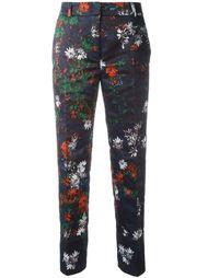 укороченные брюки с цветочным принтом Cédric Charlier
