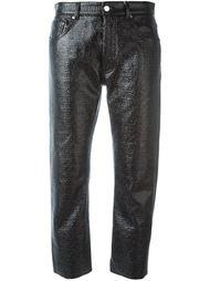 фактурные укороченные брюки Mm6 Maison Margiela