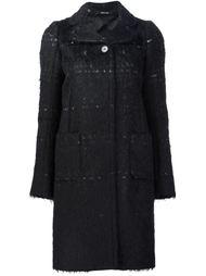 короткое фактурное пальто Maison Margiela