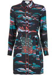 платье-рубашка с принтом-ландшафтом Coach