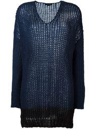 блузка с контрастным подолом  Twin-Set