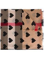 шарф с принтом сердец  Burberry