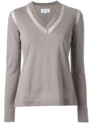 свитер с контрастной окантовкой  Maison Margiela