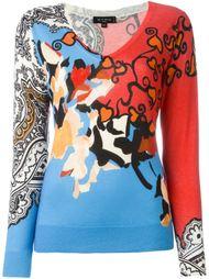 свитер c V-образным вырезом   Etro