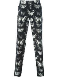 жаккардовые брюки с принтом мотыльков Alexander McQueen