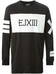 толстовка с черным принтом логотипа Ejxiii