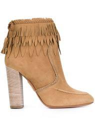 ботинки с бахромой Aquazzura