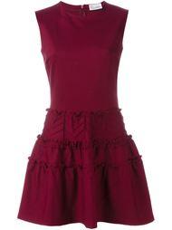 платье с оборками  Red Valentino