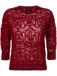 ажурный свитер Twin-Set