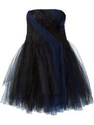 платье без бретелек Oscar de la Renta