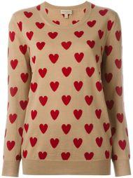 свитер с изображением сердец  Burberry