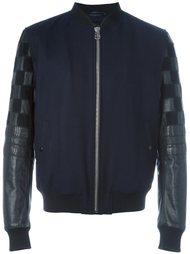 куртка-бомбер с контрастными рукавами Lanvin