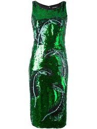декорированное платье  Dolce & Gabbana