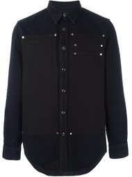 рубашка с контрастной панелью Givenchy