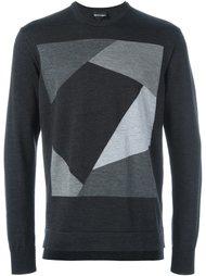 жаккардовый свитер  Emporio Armani