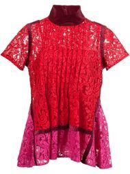 блузка с цветочным узором  Sacai