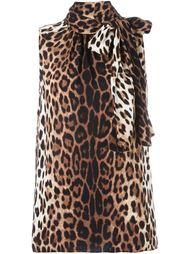 блузка с леопардовым принтом   Boutique Moschino