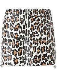 короткая юбка с леопардовым принтом Drome