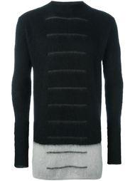 свитер с конрастным подолом  Rick Owens