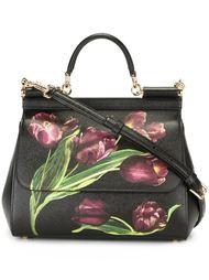 сумка-тоут Sicily' с принтом тюльпанов  Dolce & Gabbana