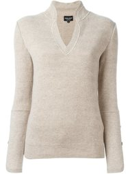 свитер с манжетами на пуговицах Giorgio Armani