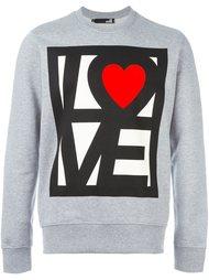 толстовка с принтом 'love'  Love Moschino