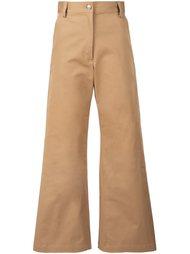 расклешенные укороченные брюки  Rachel Comey