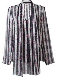 полосатая блузка с цветочным принтом Lanvin