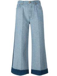 широкие джинсы с контрастным подворотом Cédric Charlier