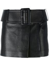 кожаная мини-юбка с поясом Givenchy