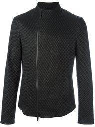 байкерская куртка с рельефным узором Giorgio Armani
