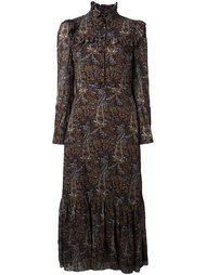 платье  с принтом пейсли   Saint Laurent