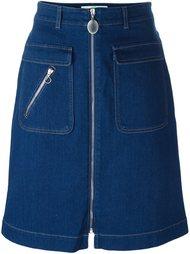 джинсовая юбка на молнии  Stella McCartney