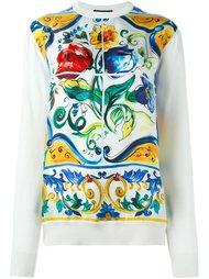 джемпер с принтом 'Majolica' Dolce & Gabbana