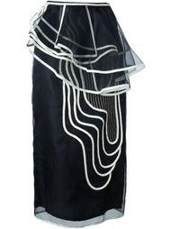 юбка с геометрическим принтом Antonio Marras