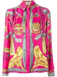рубашка с принтом барокко  Hermès Vintage