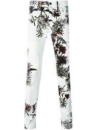 брюки с цветочным принтом  Ann Demeulemeester