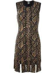 платье с принтом змеиной кожи  Fausto Puglisi
