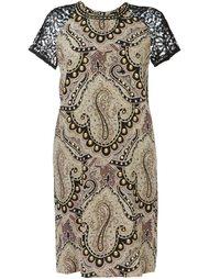 декорированное платье  Etro