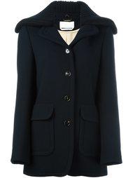 пальто с воротником в рубчик Chloé